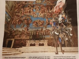 Sleutelbos van Sixtijnse kapel van het Vaticaan te Rome